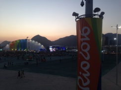 The Olympic Park at dusk