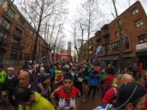 Serious looking runners on the start line