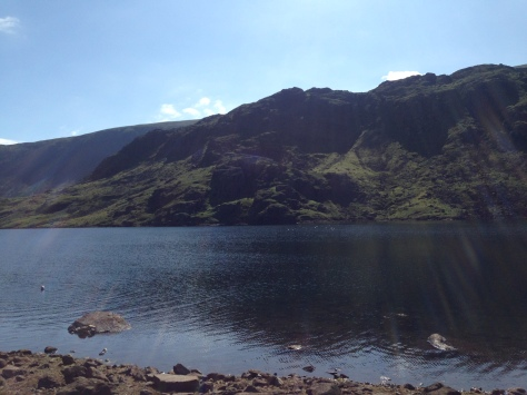 Seathwaite Tarn in all its glory- an ideal swimming spot the day after a race
