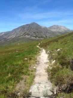 Heading towards the Devil's Point mountain