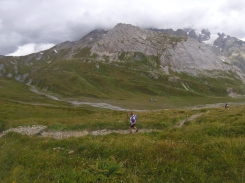 Sarah on the climb up to the Col du Chavanne