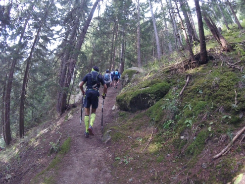 Climbing up past Champex-Lac