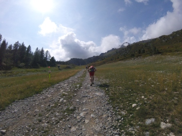 The ski run up to Flegere