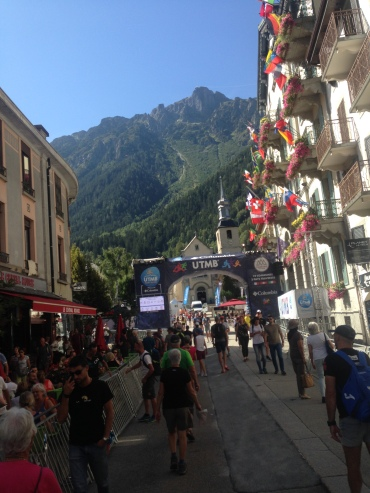 The calm before the storm- the finish line in Chamoni before 4 days of non-stop action