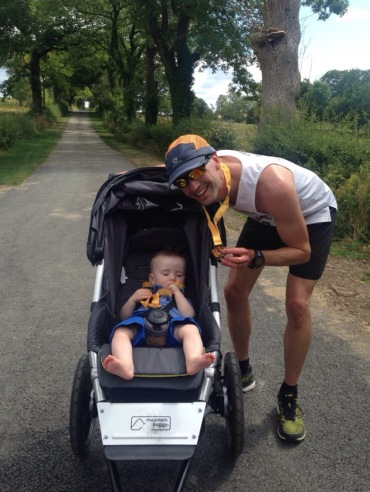 Bentham 10k- a tough route with a buggy!