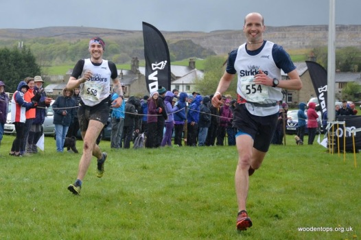 3 Peaks sprint finish, proof from Woodentops that I beat him! I'm not bitter though...