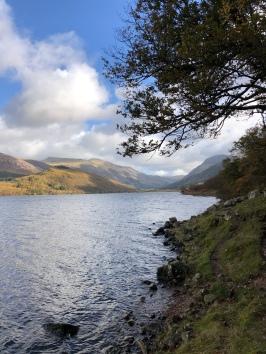 Looking back along the lake