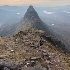 Cracking running on Suilven, on holiday in the Scottish Highlands