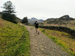A nice fake running shot in Langdale at the end of our recce