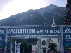 The start and finish in Chamonix